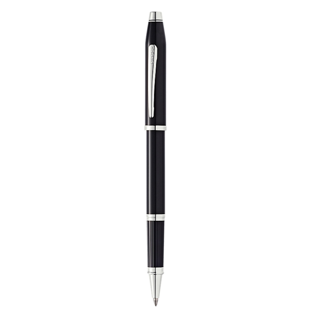 Cross Century II Black Lacquer Chrome Trim Rollerball Pen