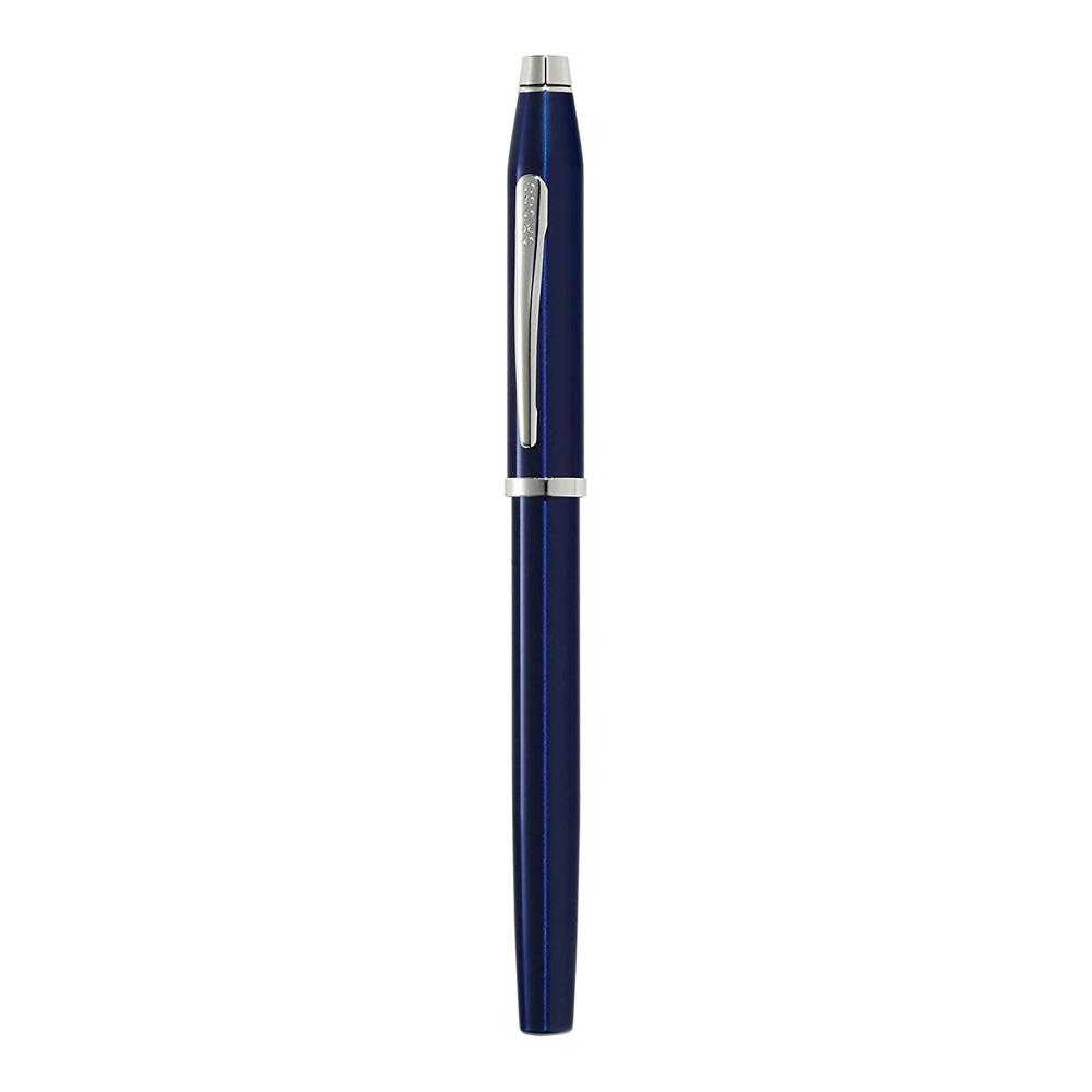 Cross Century II Blue Lacquer Chrome Trim Fountain Pen