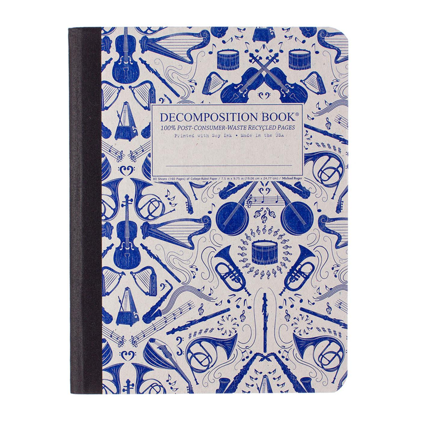 Decomposition Book Acoustic College Ruled Notebook
