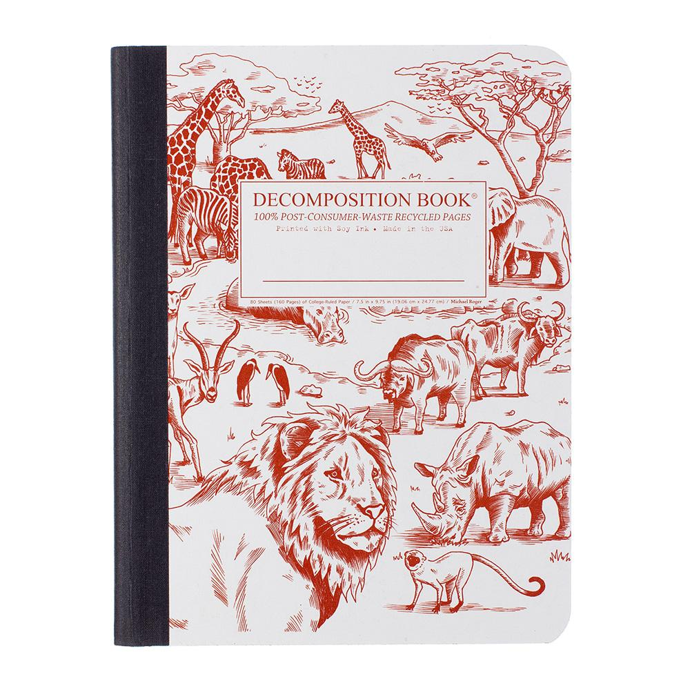 Decomposition Book African Safari College Ruled Notebook
