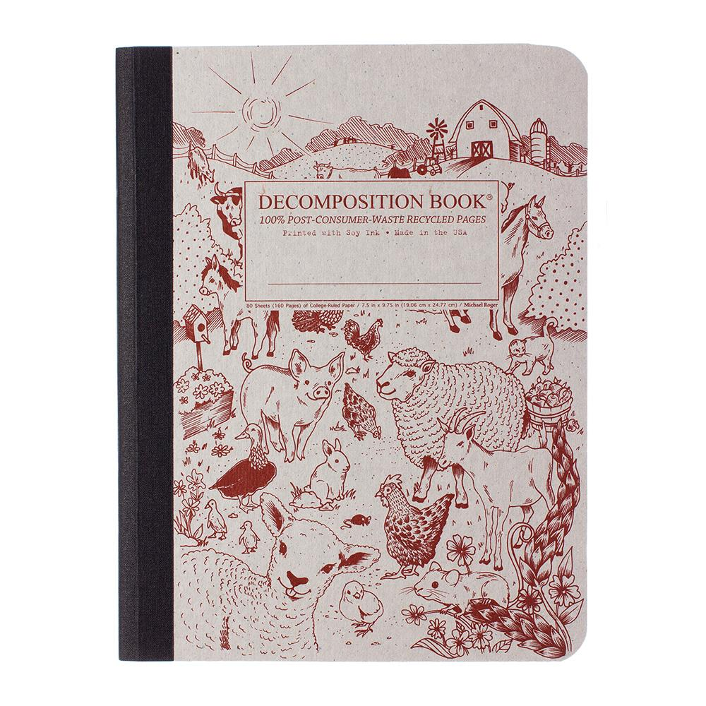 Decomposition Book Barnyard College Ruled Notebook