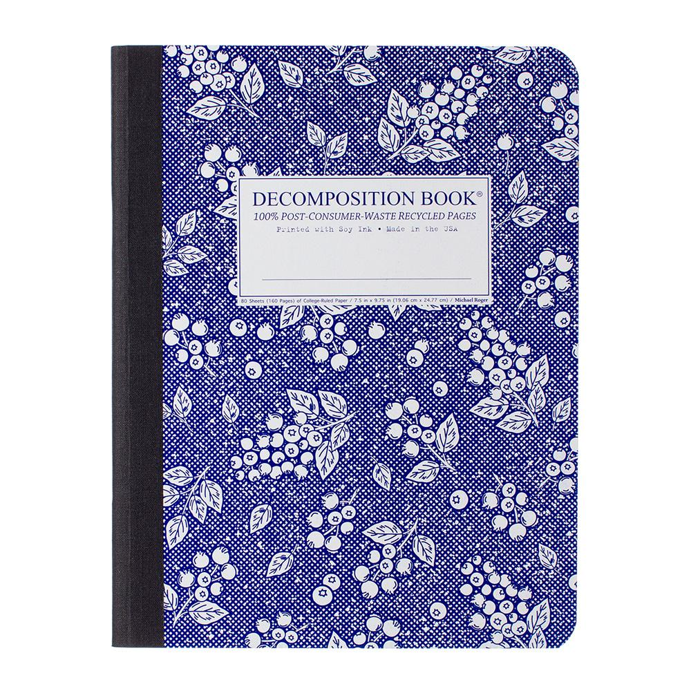 Decomposition Book Blueberry College Ruled Notebook