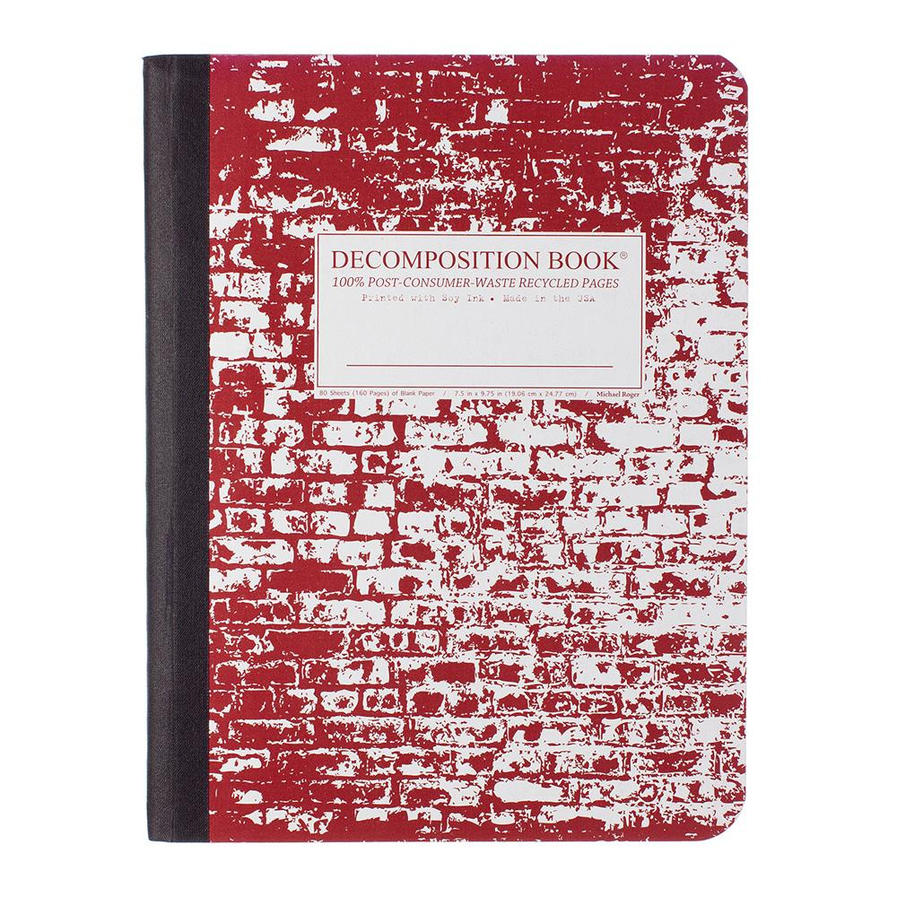 Decomposition Book Brick in the Wall Notebook