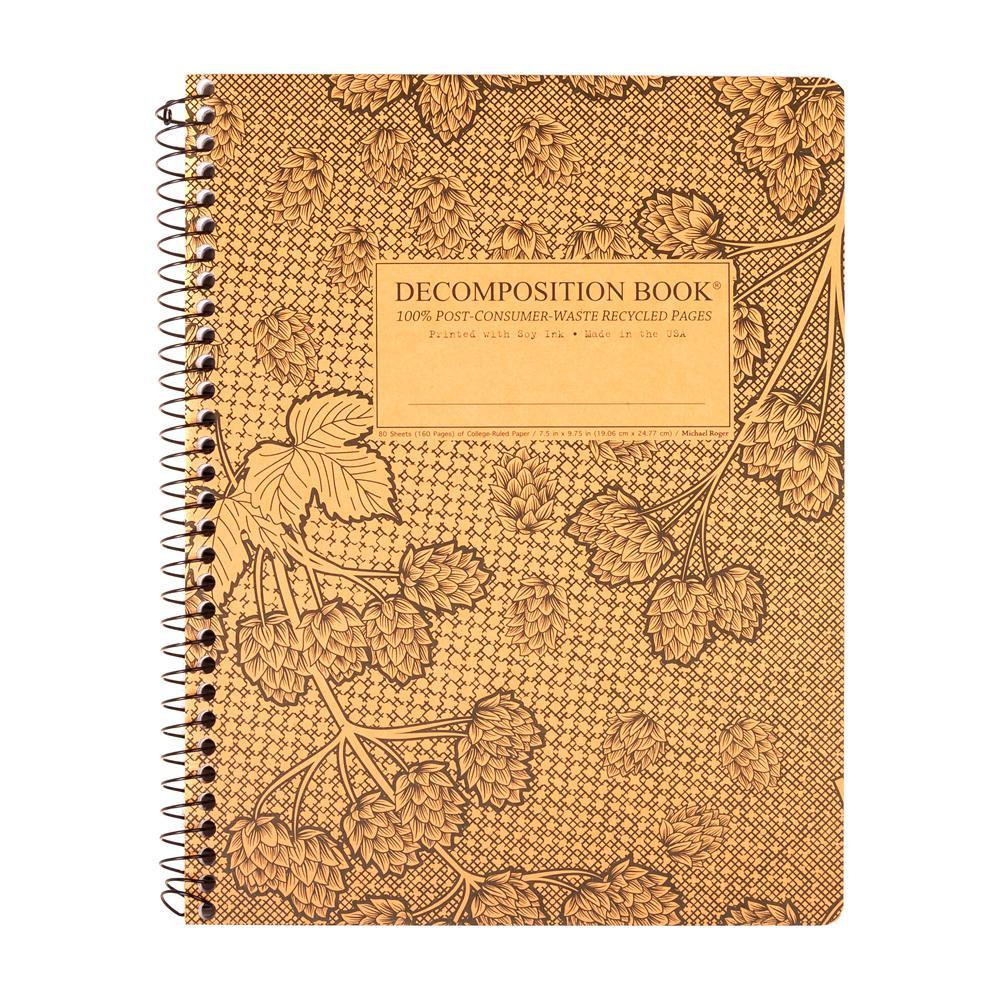 Decomposition Book Cascade Hops College Spiral Notebook