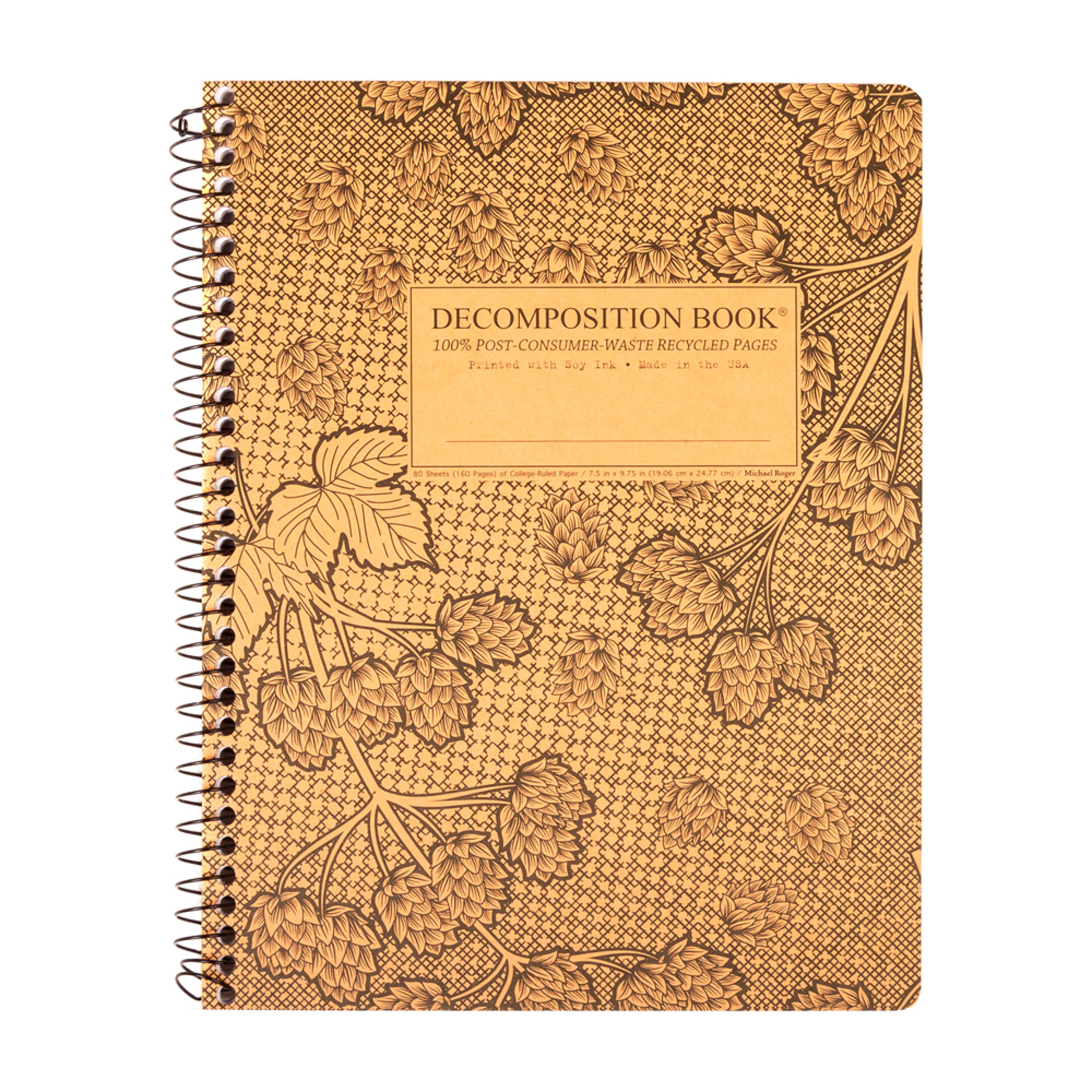 Decomposition Book Cascade Hops College Spiral Notebook