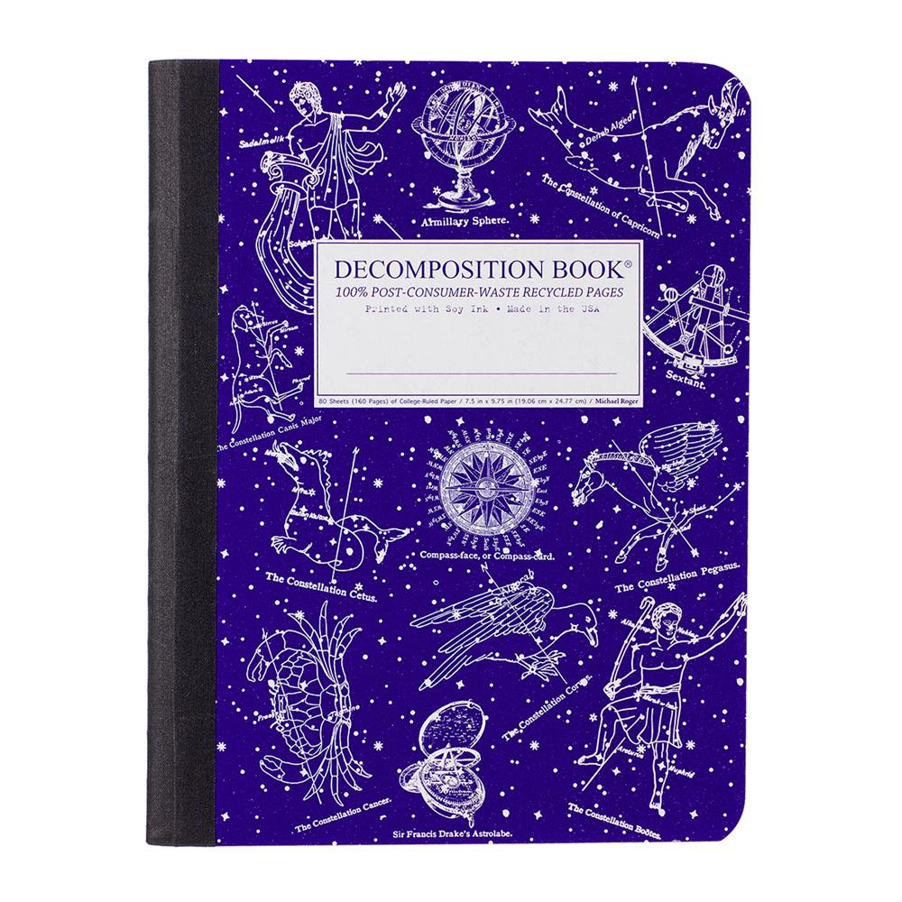 Decomposition Book Celestial College Ruled Notebook