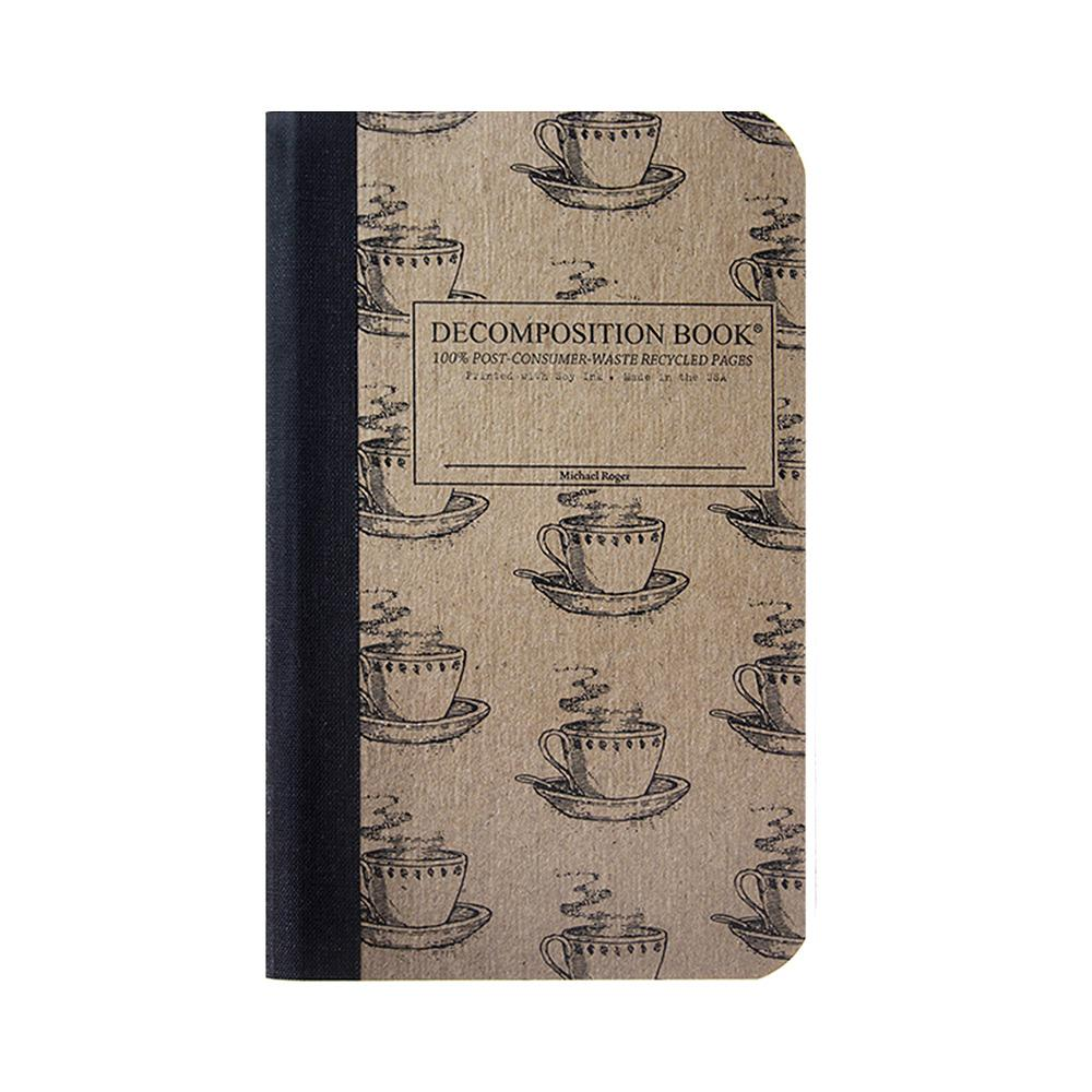 "Decomposition Book Coffee Cup College Ruled Notebook 4""x6"""