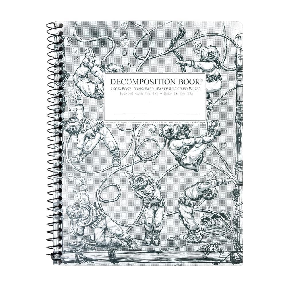 Decomposition Book Deep Stretch College Spiral Notebook