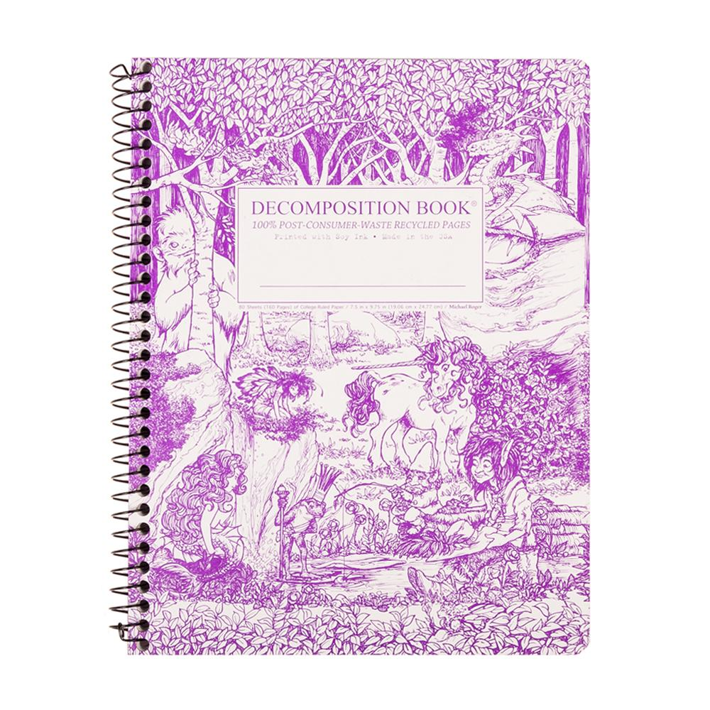 Decomposition Book Fairy Tale Forest College Spiral Notebook