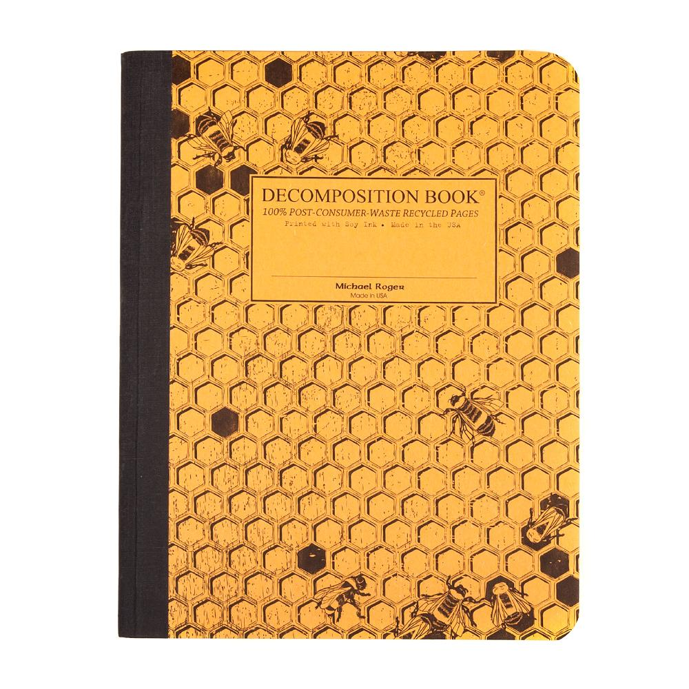 Decomposition Book Honeycomb College Ruled Notebook