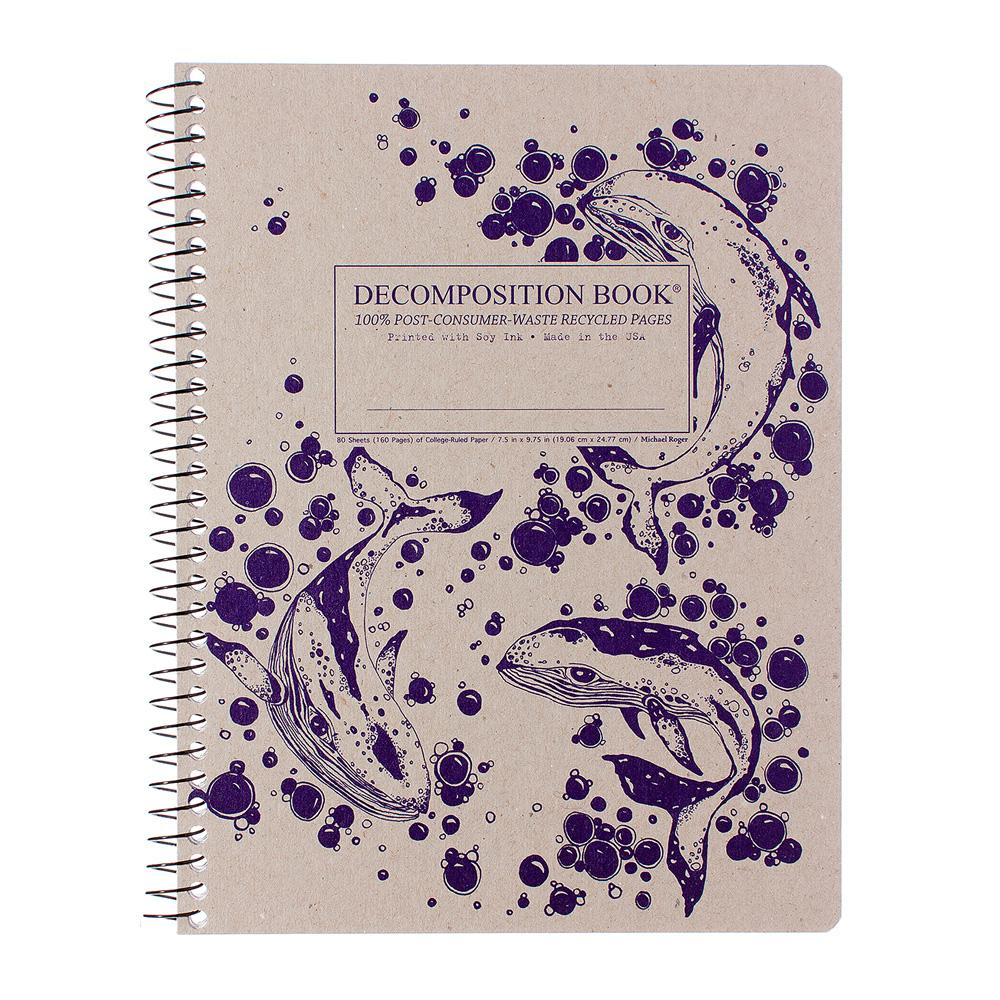 Decomposition Book Humpback Whales College Spiral Notebook