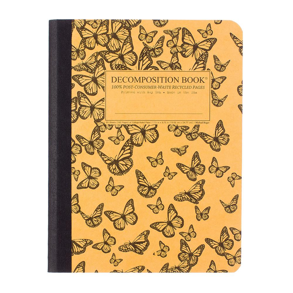 Decomposition Book Monarch Migration College Ruled Notebook