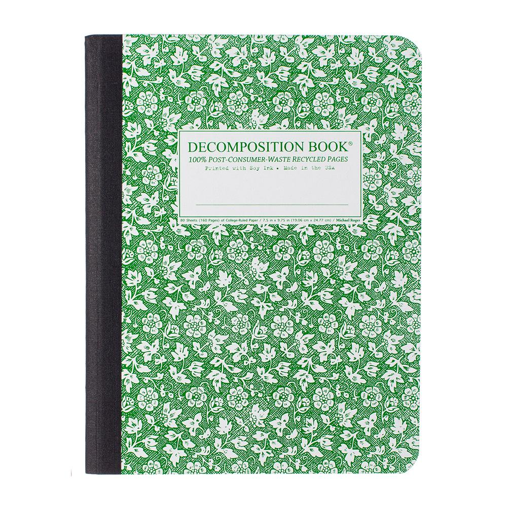 Decomposition Book Parsley College Ruled Notebook