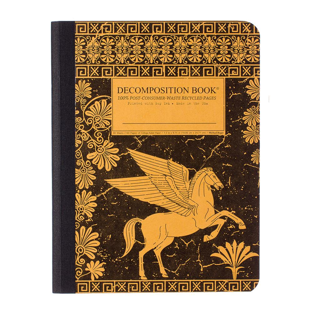 Decomposition Book Pegasus College Ruled Notebook