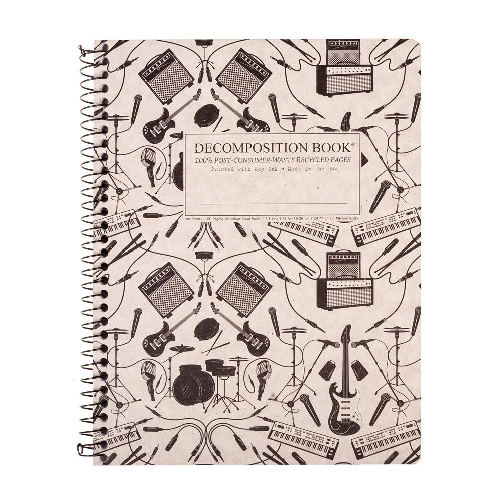 Decomposition Book Plugged In College Spiral Notebook