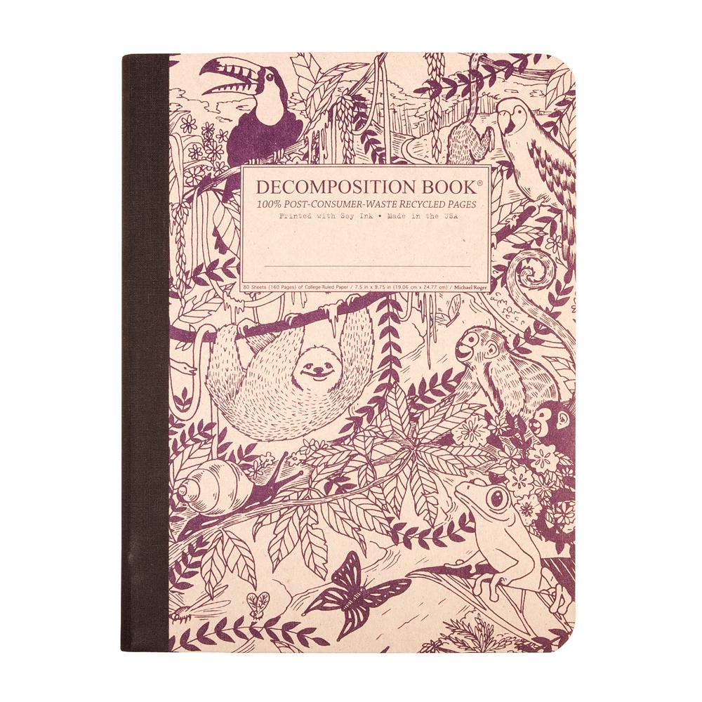 Decomposition Book Rainforest College Ruled Notebook