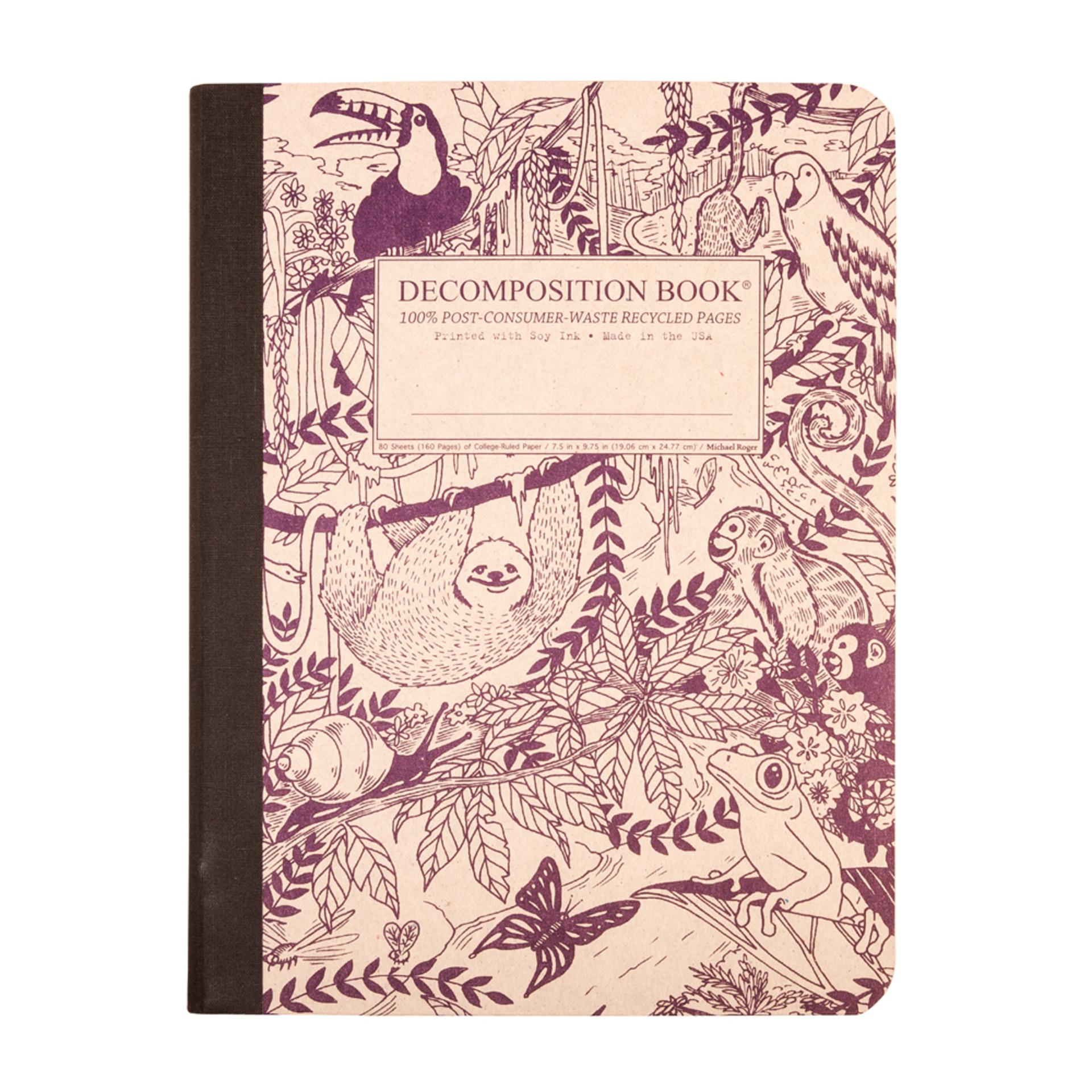 Decomposition Book Rainforest College Ruled Notebook