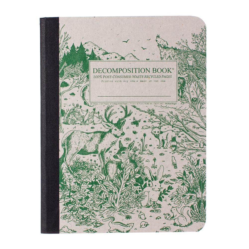 Decomposition Book Spirit Animals College Ruled Notebook