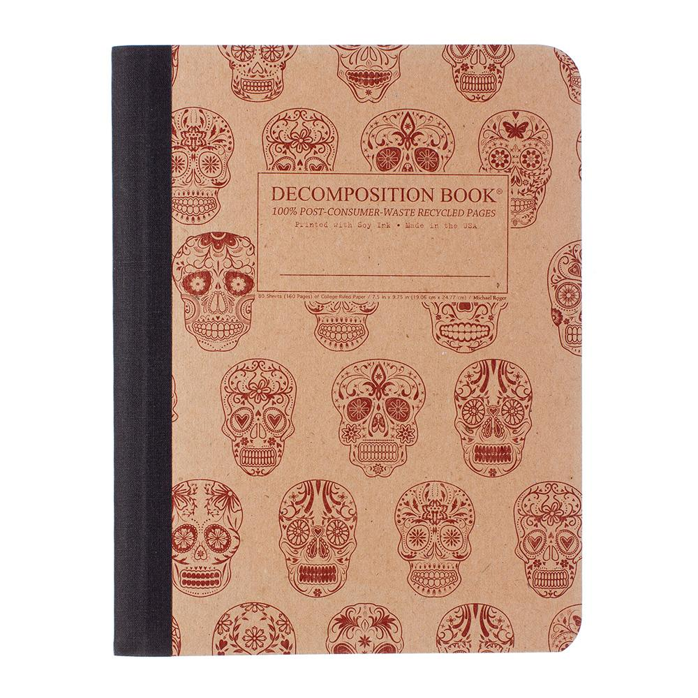 Decomposition Book Sugar Skulls College Ruled Notebook
