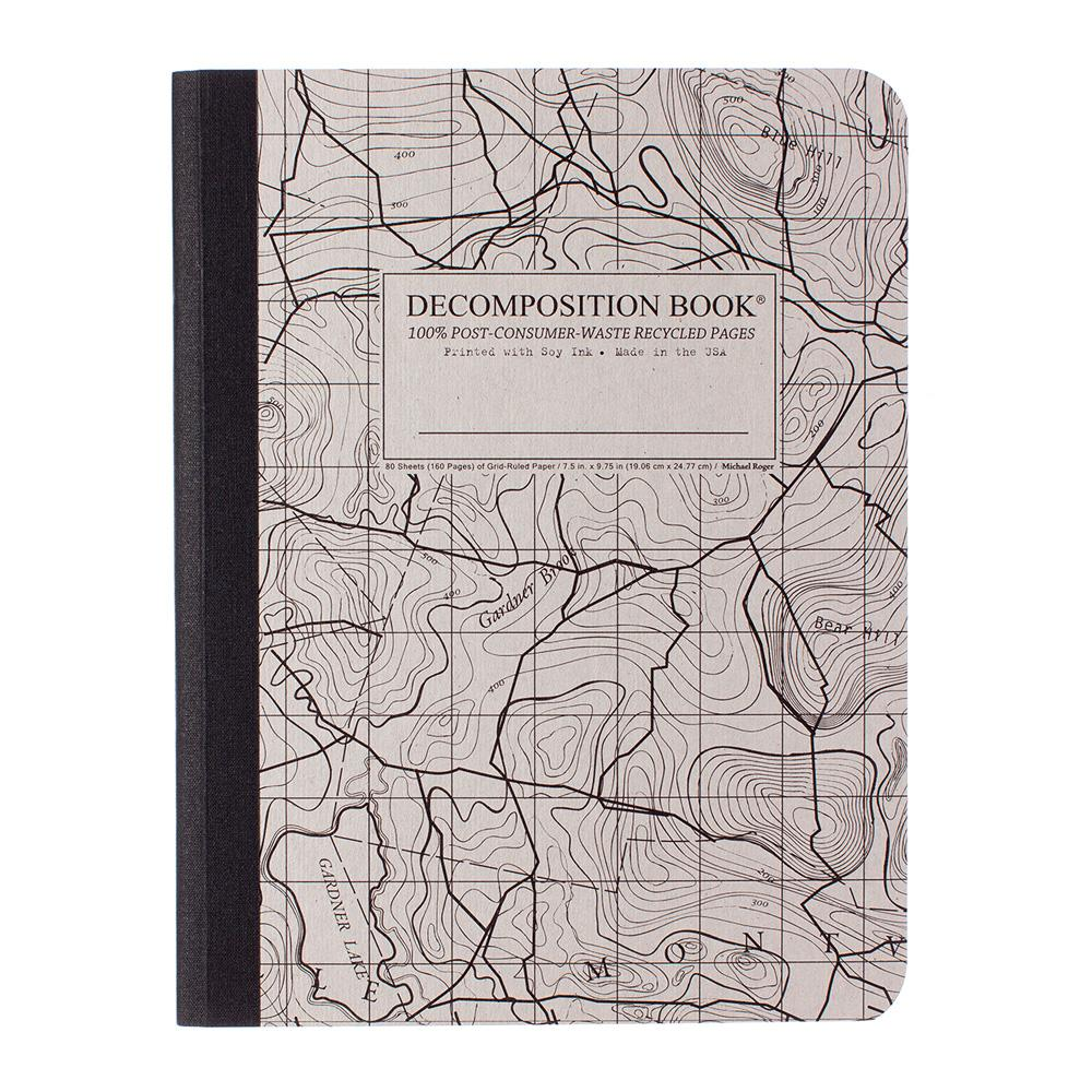 Decomposition Book Topographical Grid Notebook