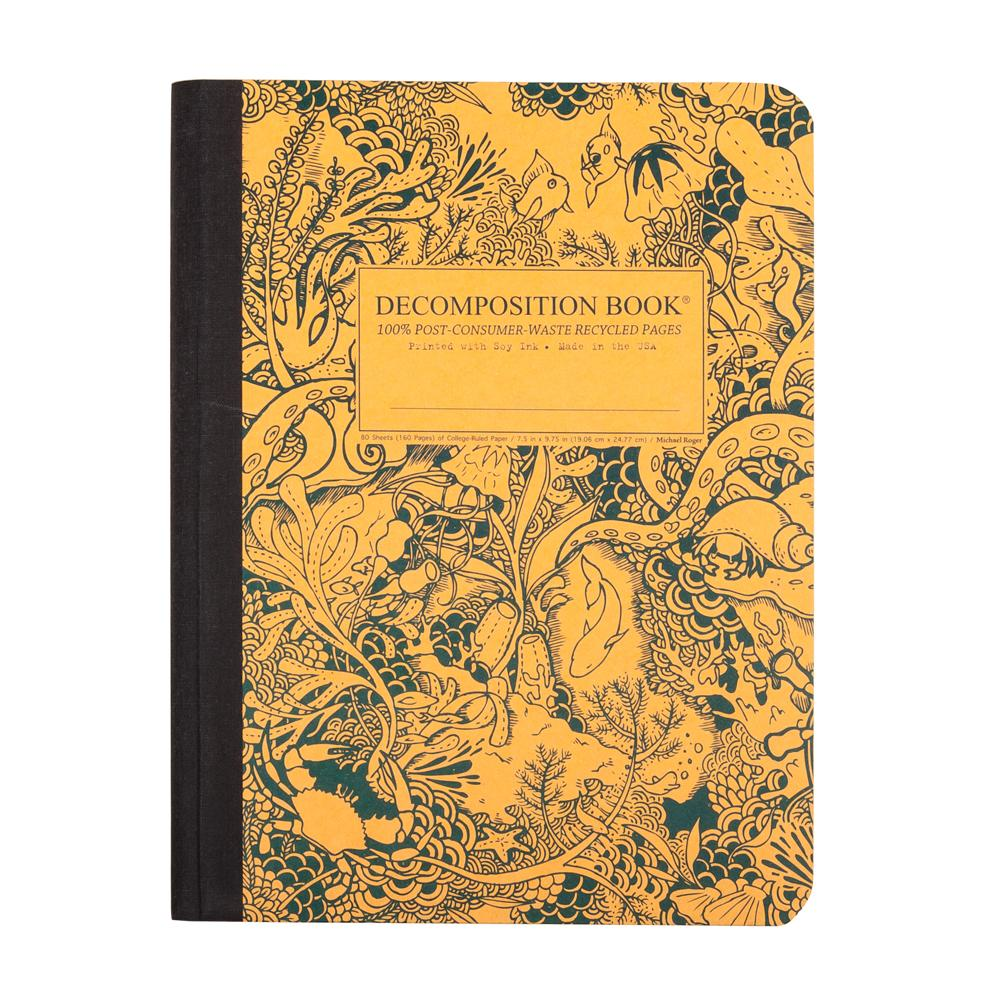 Decomposition Book Under the Sea College Ruled Notebook