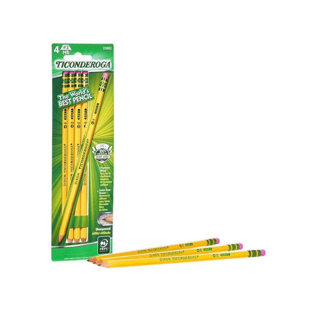 Dixon Ticonderoga #2 Pencils 4 Count