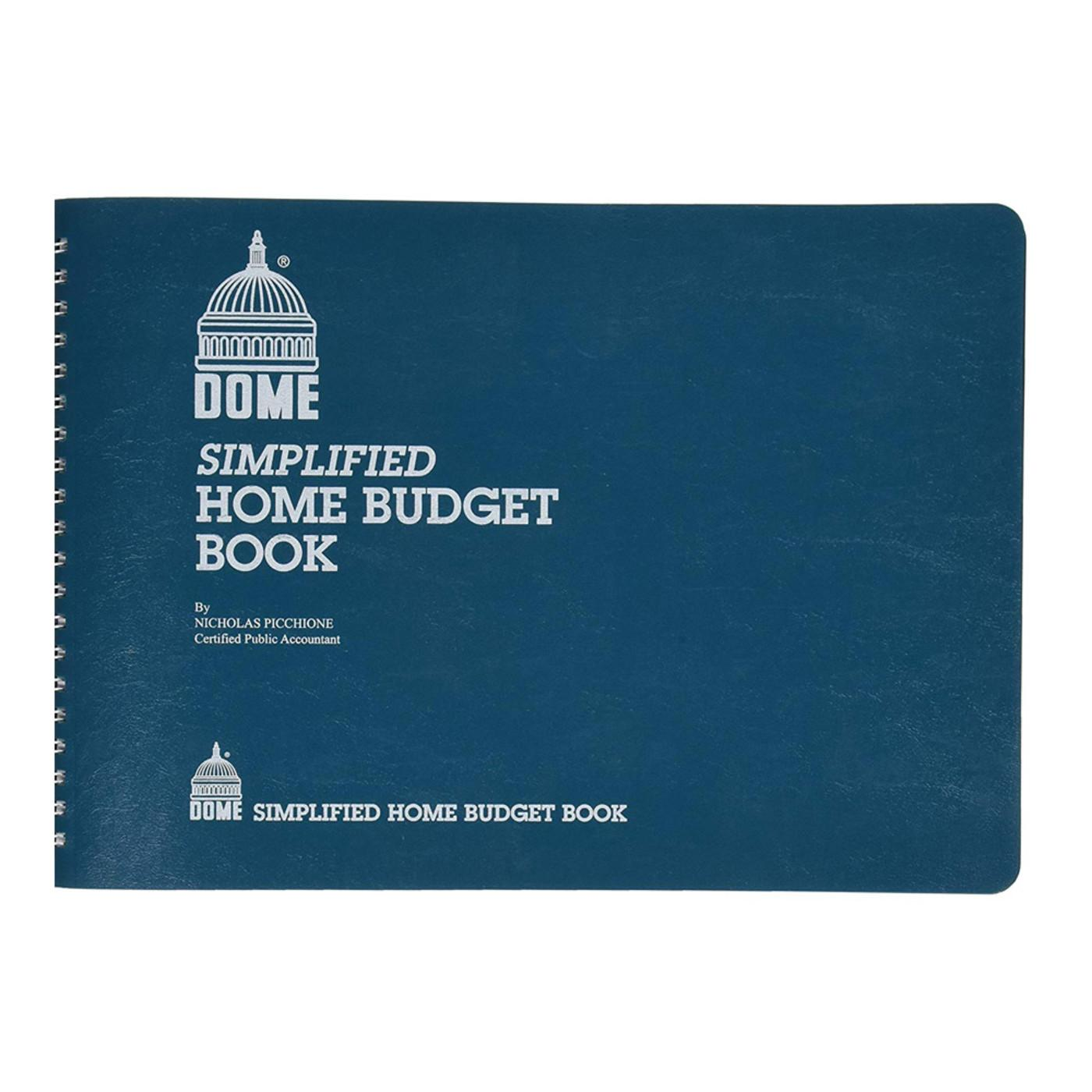 Dome Simplified Home Budget Spiral Book Front