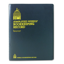 Dome Simplified Weekly Bookkeeping Record Spiral Book Front