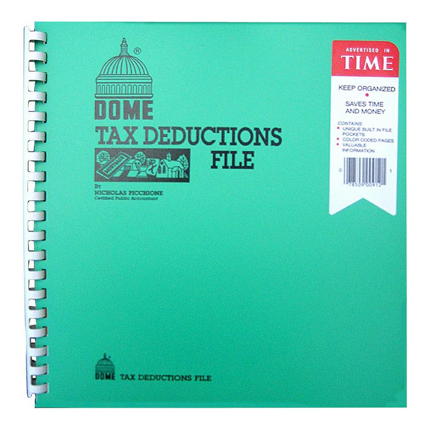 Dome Tax Deduction File Spiral Book