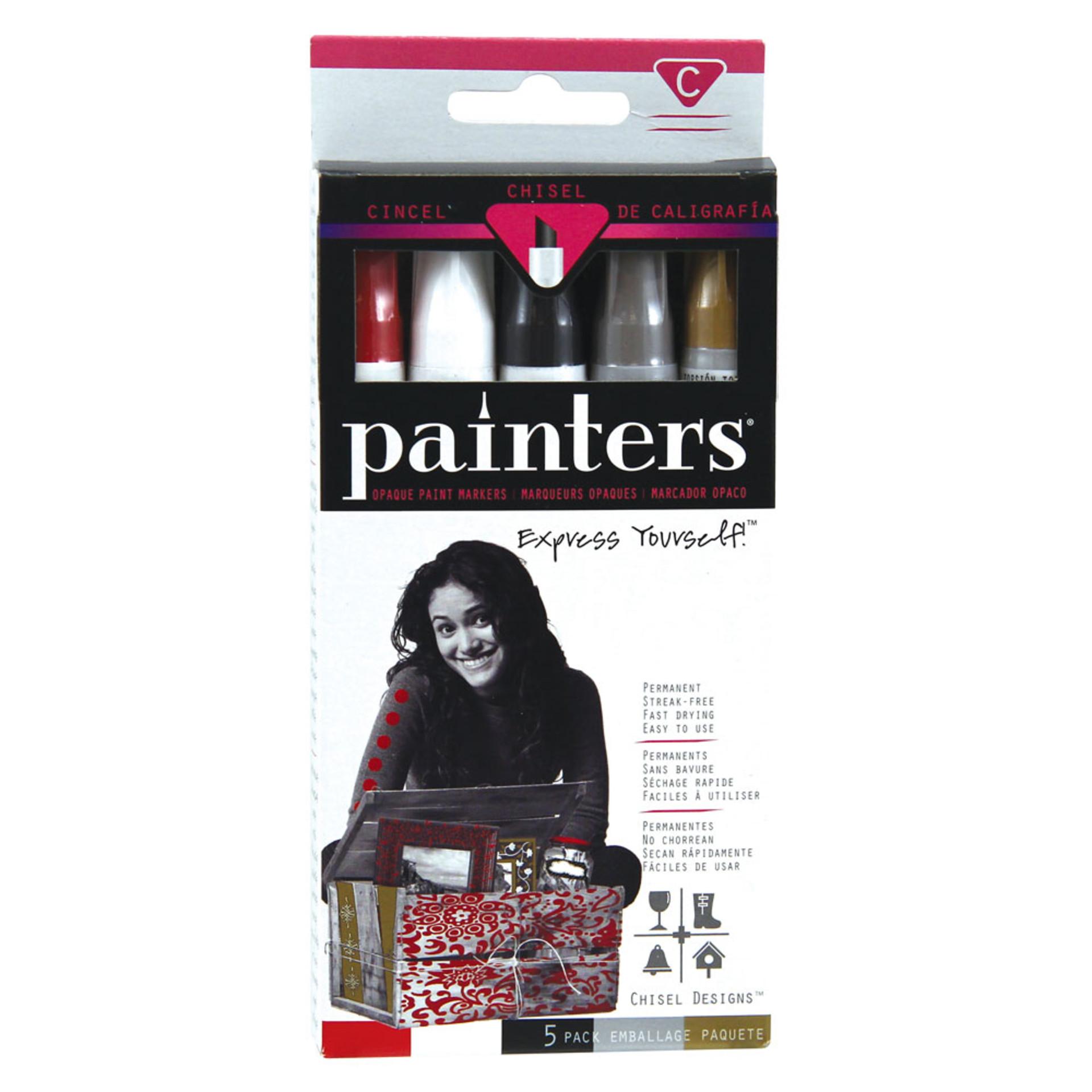 Elmer's Painters Opaque Chisel-Tip Paint Marker Set 5 piece