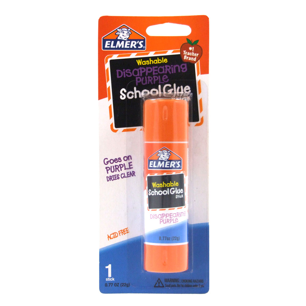 Elmer's Purple .21oz Disappearing School Glue Sticks