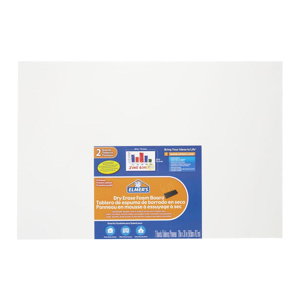 "Elmer's White Dry Erase Foam Board 20""x30""x3/16"""
