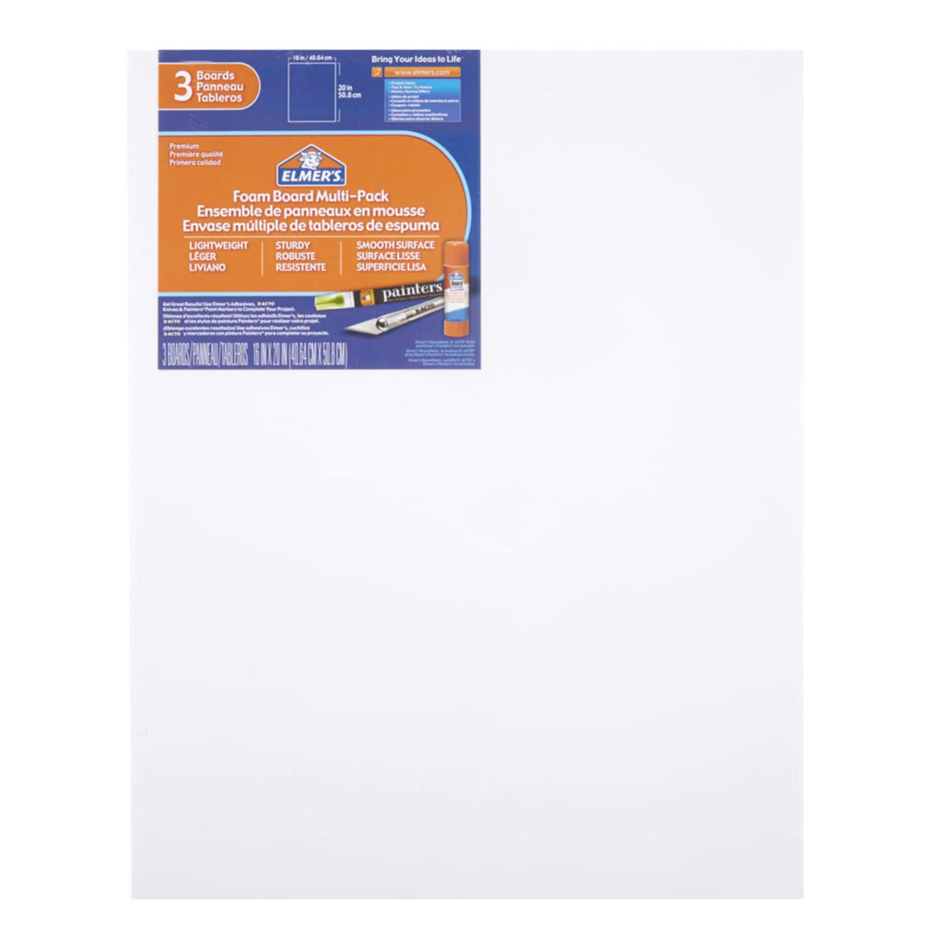 """Elmer's Foam Board 3 Pack 16""""x20"""""""