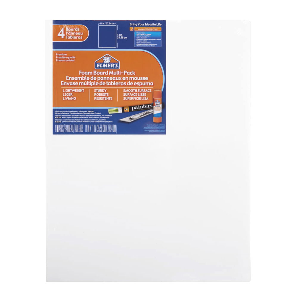 "Elmer's White Foam Board 4 Pack 11""x14"""