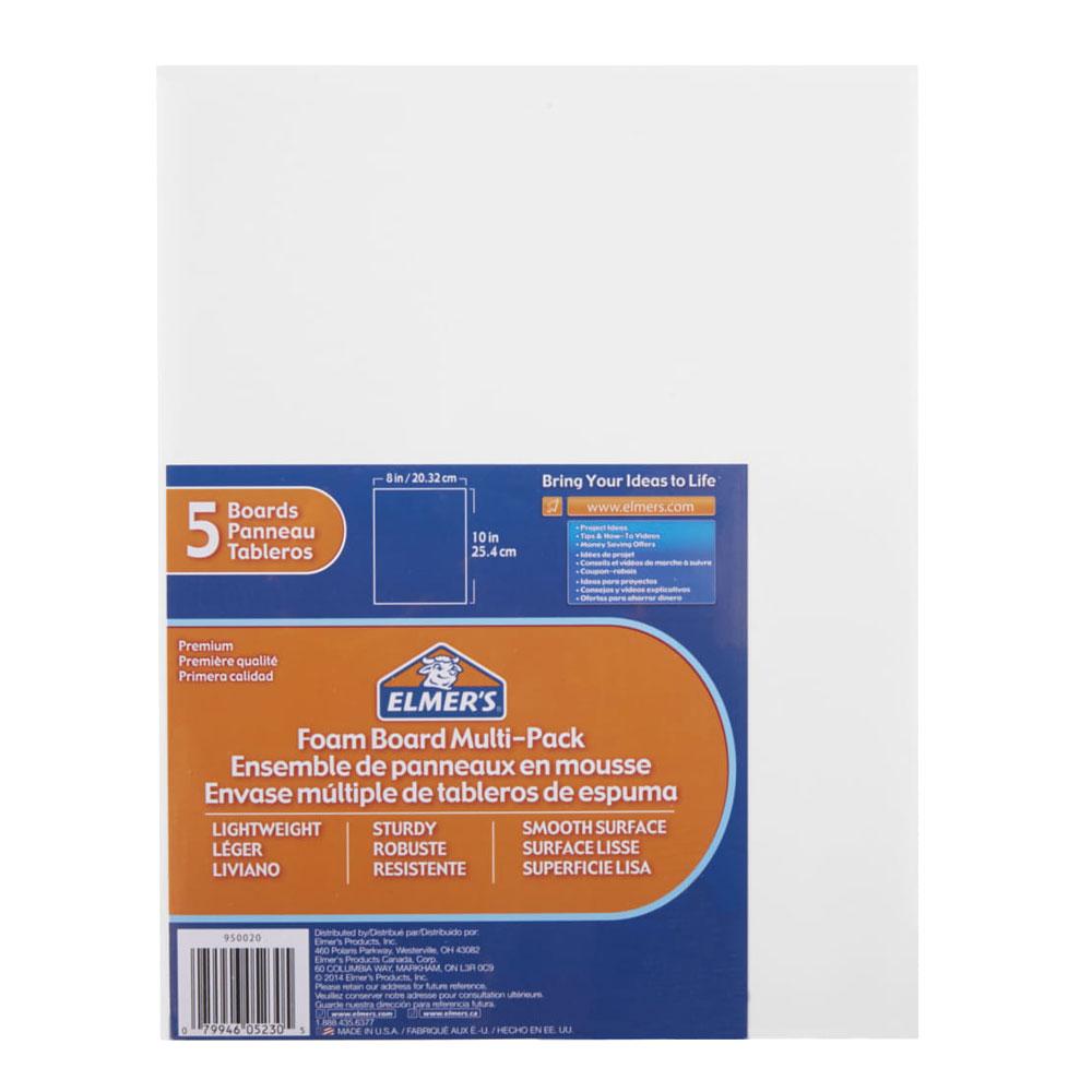 "Elmer's White Foam Board 5 Pack 8""x10"""