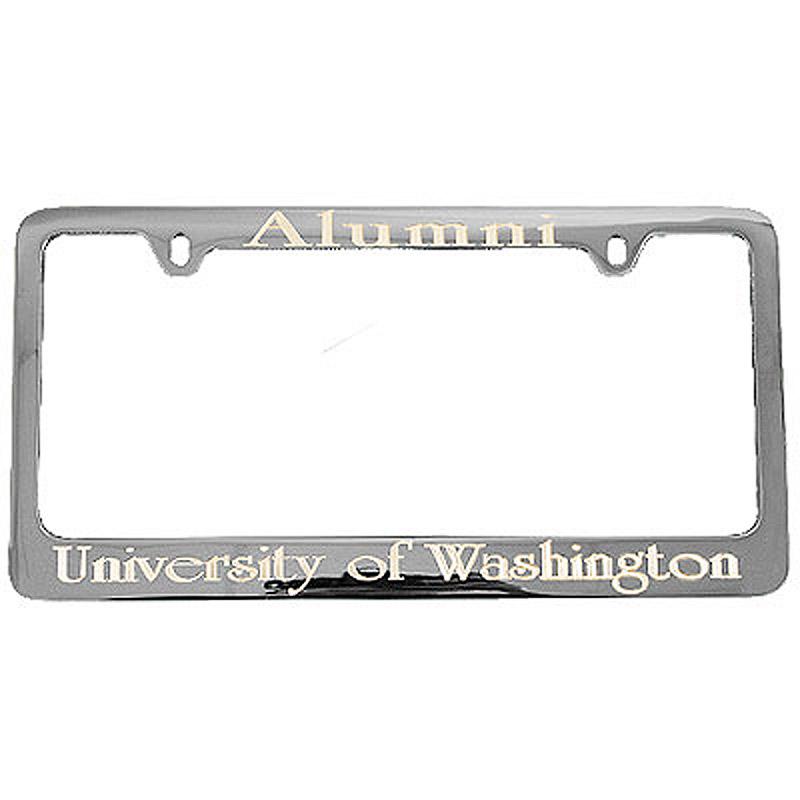 Chrome Alumni University Of Washington Engraved License