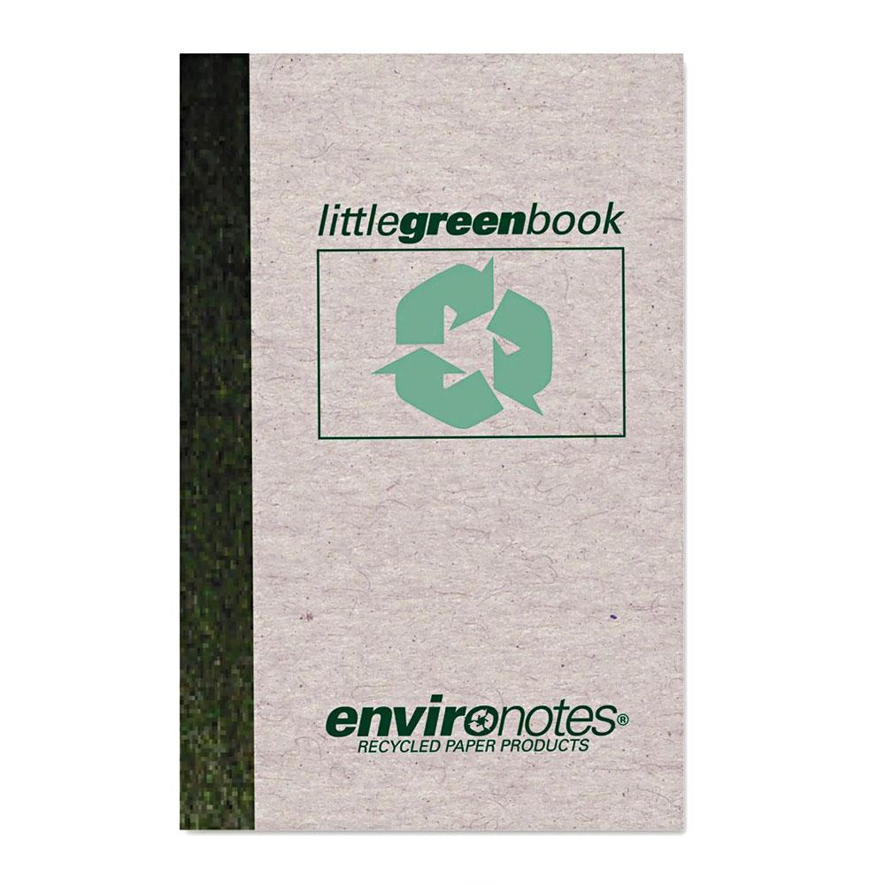 """Environotes 6"""" x 4"""" Ruled Little Green Notebook"""