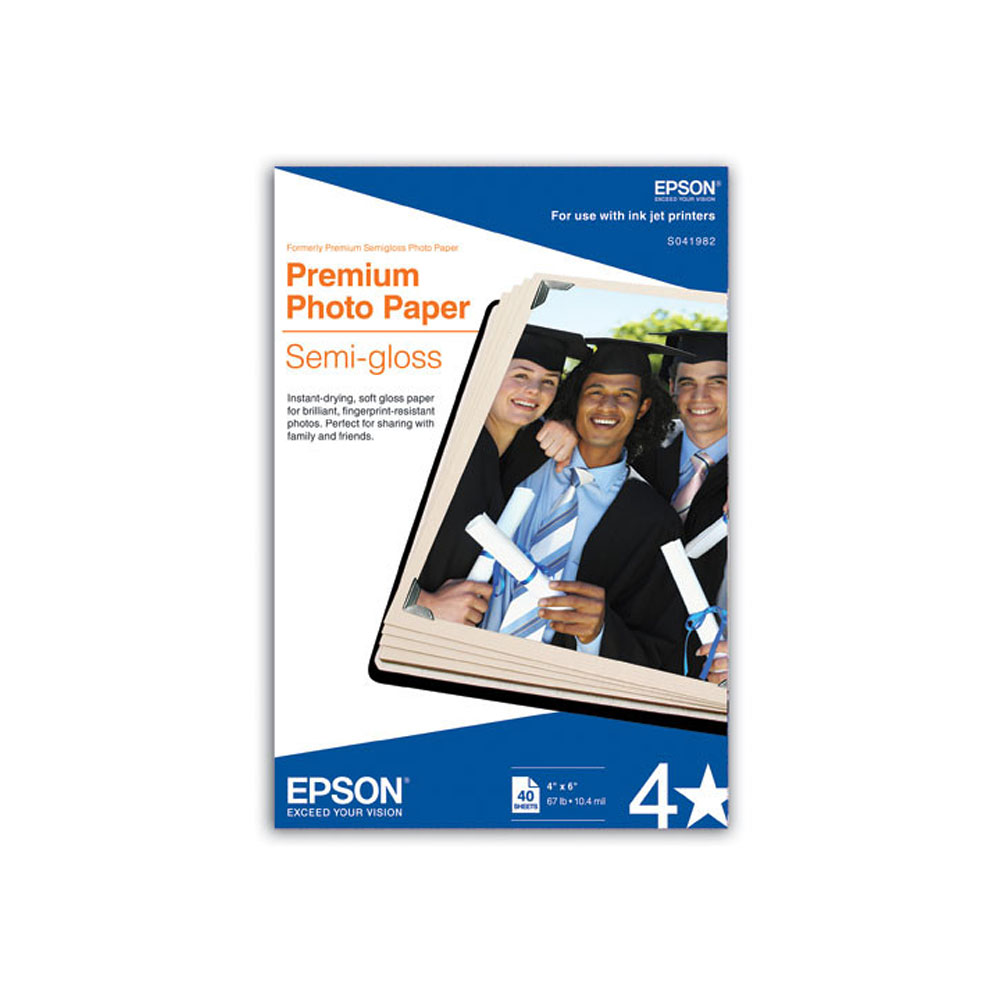 "Epson Premium Photo Paper Semi-Gloss 4"" x 6"""