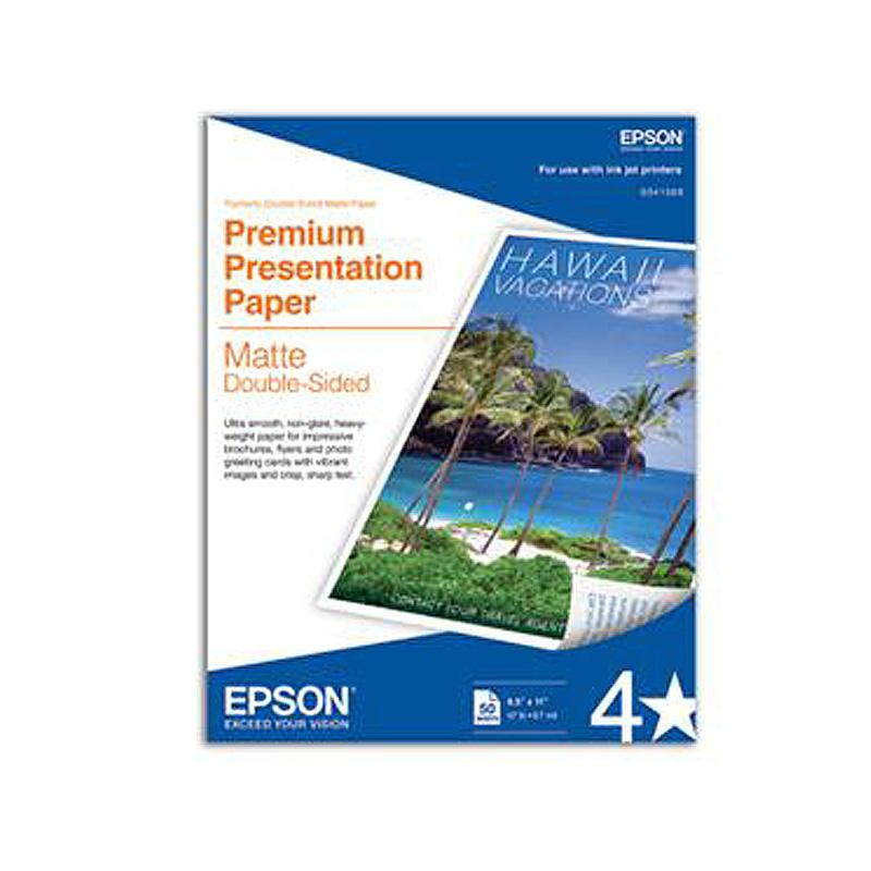 "Epson Premium Paper Double Sided Matte 8.5"" x 11"""