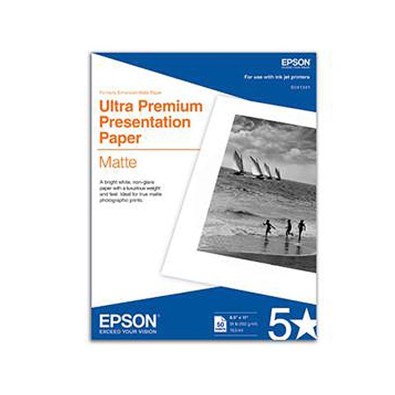 "Epson Ultra Premium Presentation Paper Matte 8.5"" x 11"""