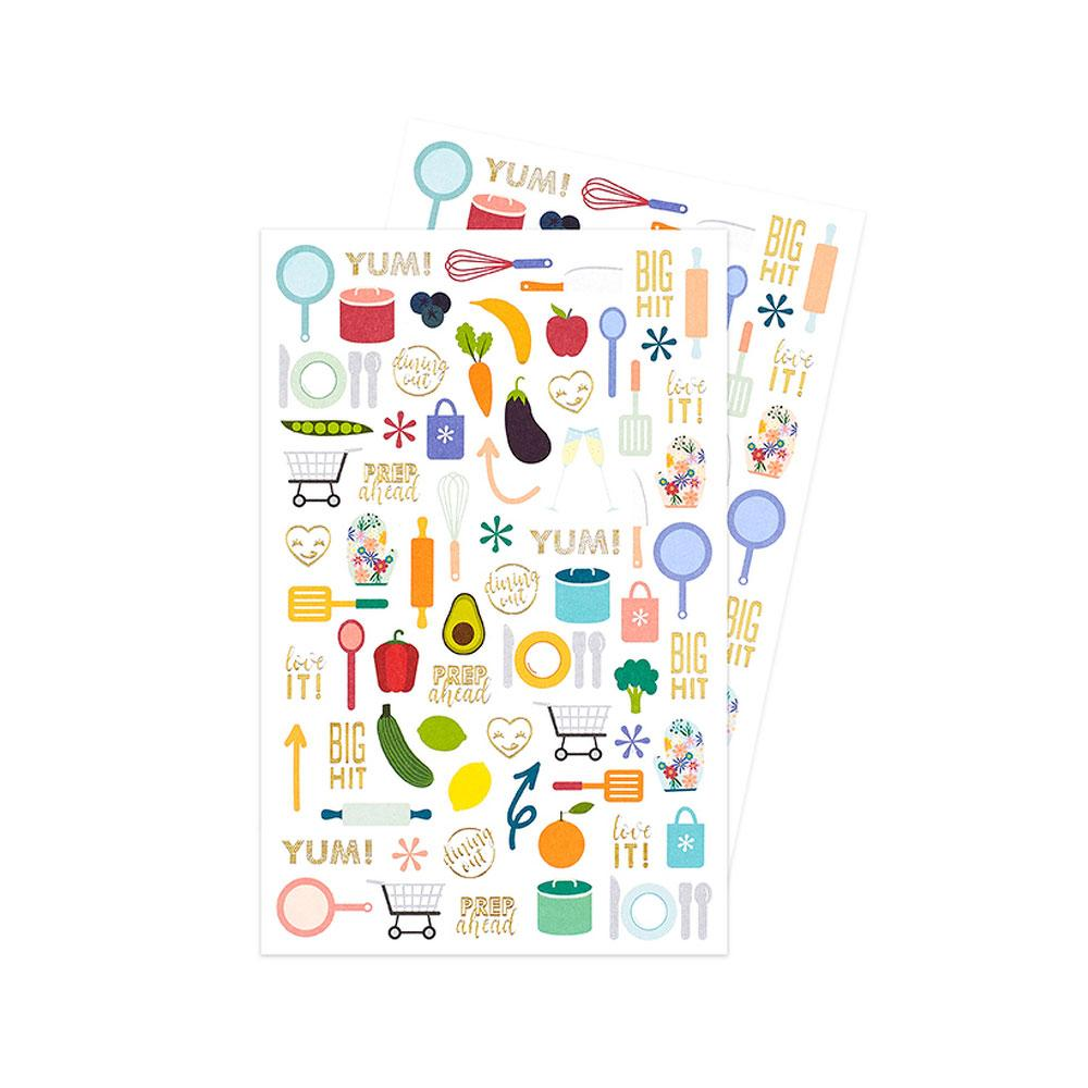 Erin Condren Meal Planner Decorative Stickers