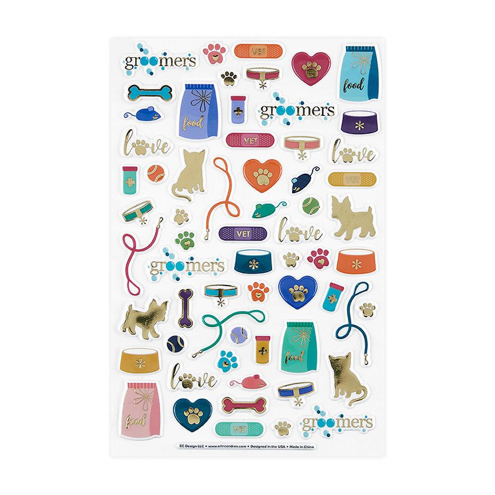 Erin Condren Pet Pals 3D Puffy Sticker Sheet