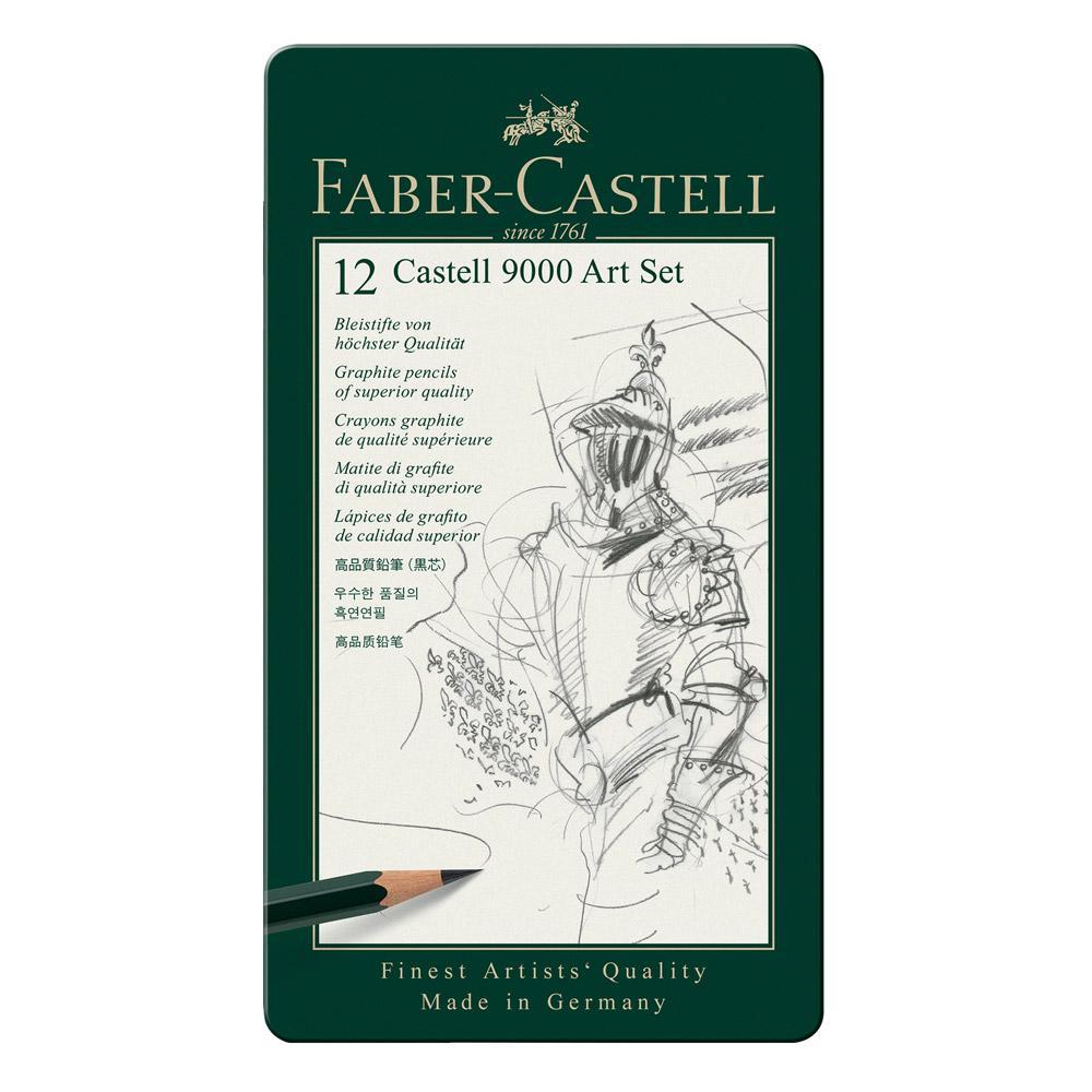 Faber-Castell 9000 Graphite Pencil Art Set 12 piece