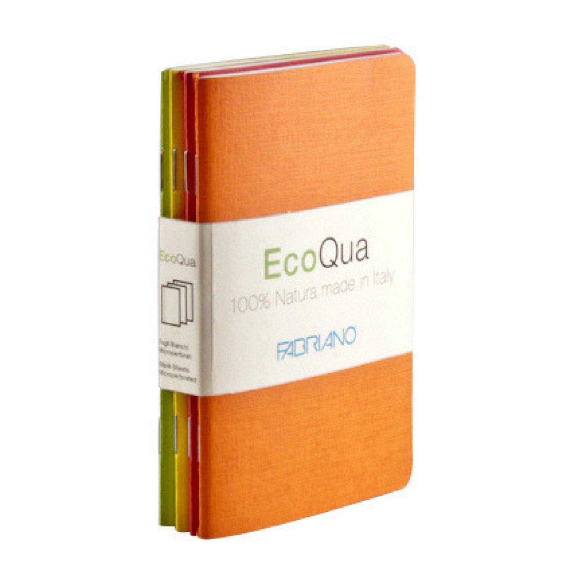 "Fabriano Warm EcoQua 3.5""x5.5"" Blank Stapled Notebook 4 Pack"
