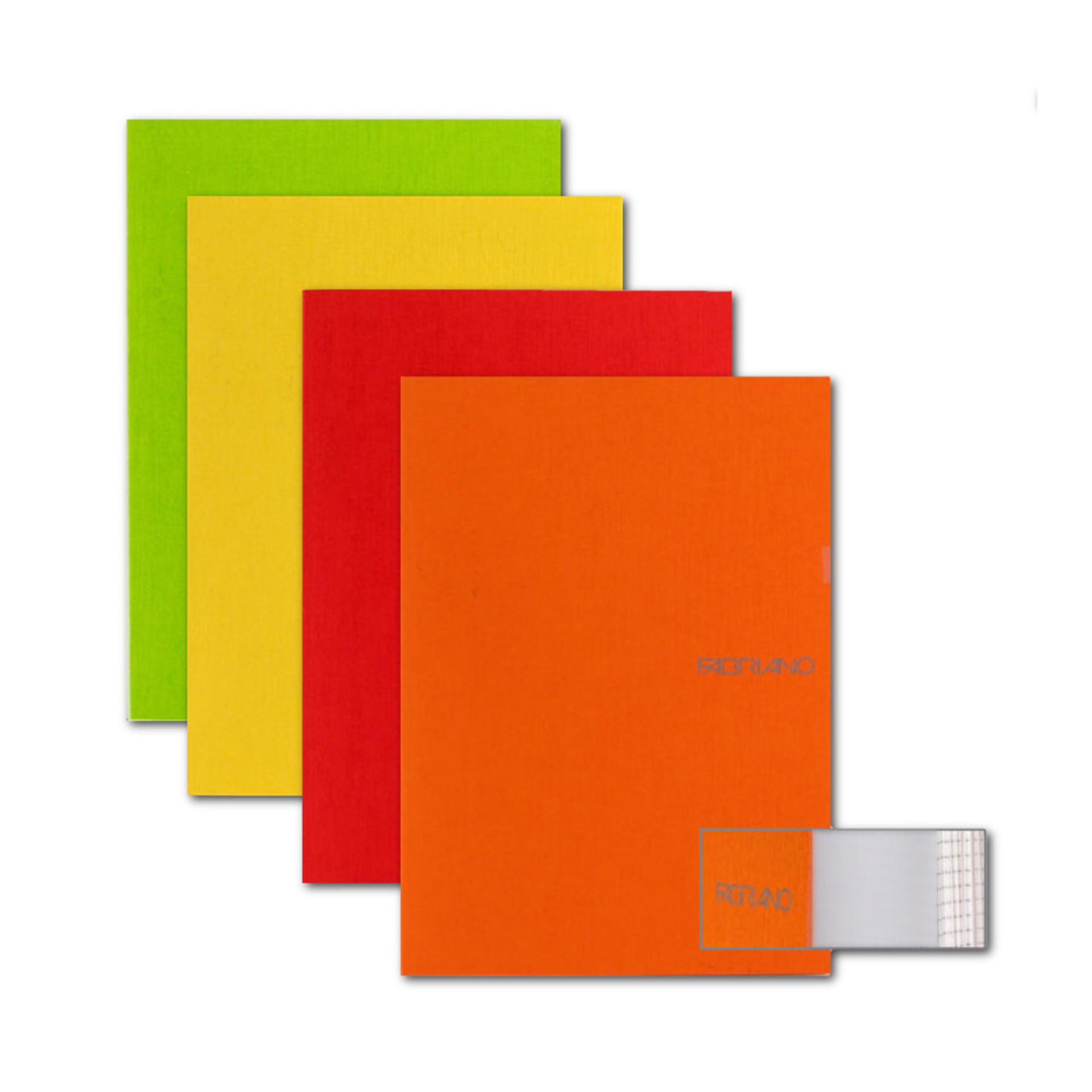 "Fabriano Assorted Warm EcoQua 3.5""x5.5"" Blank Stapled Notebooks"