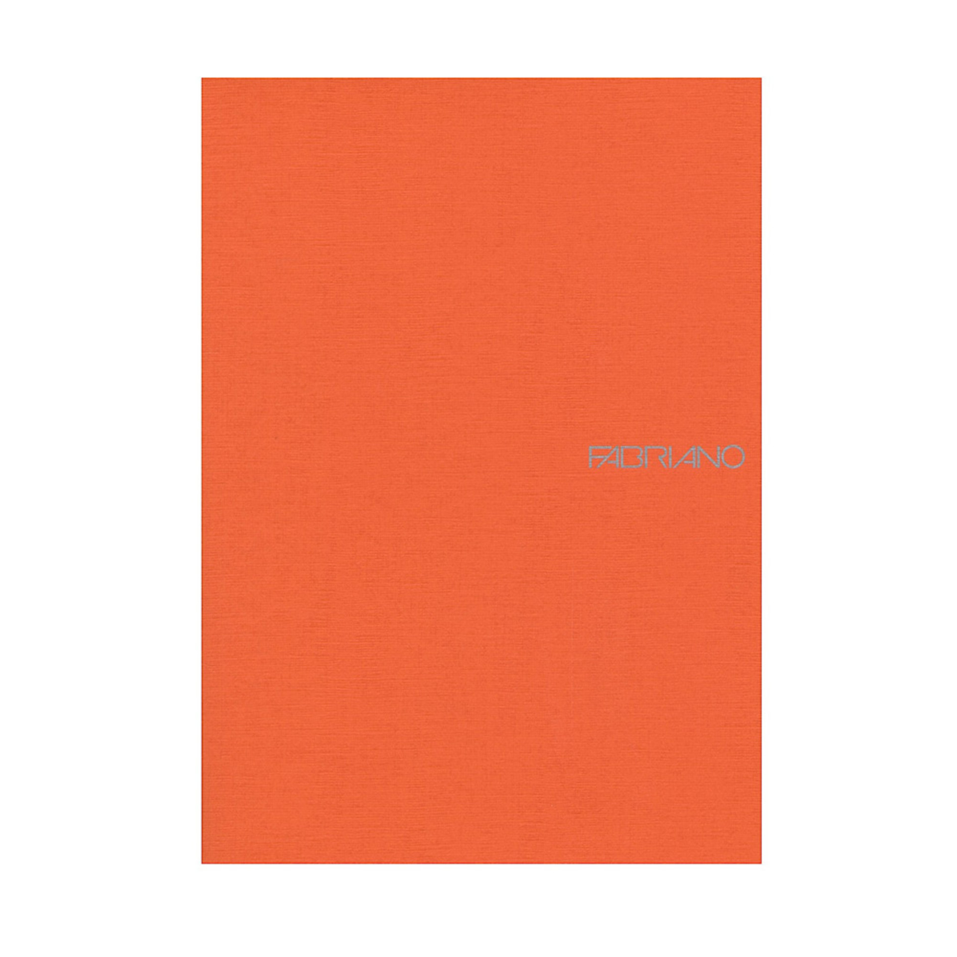 "Fabriano EcoQua Staplebound Blank 6""x 8"" Notebook Orange"