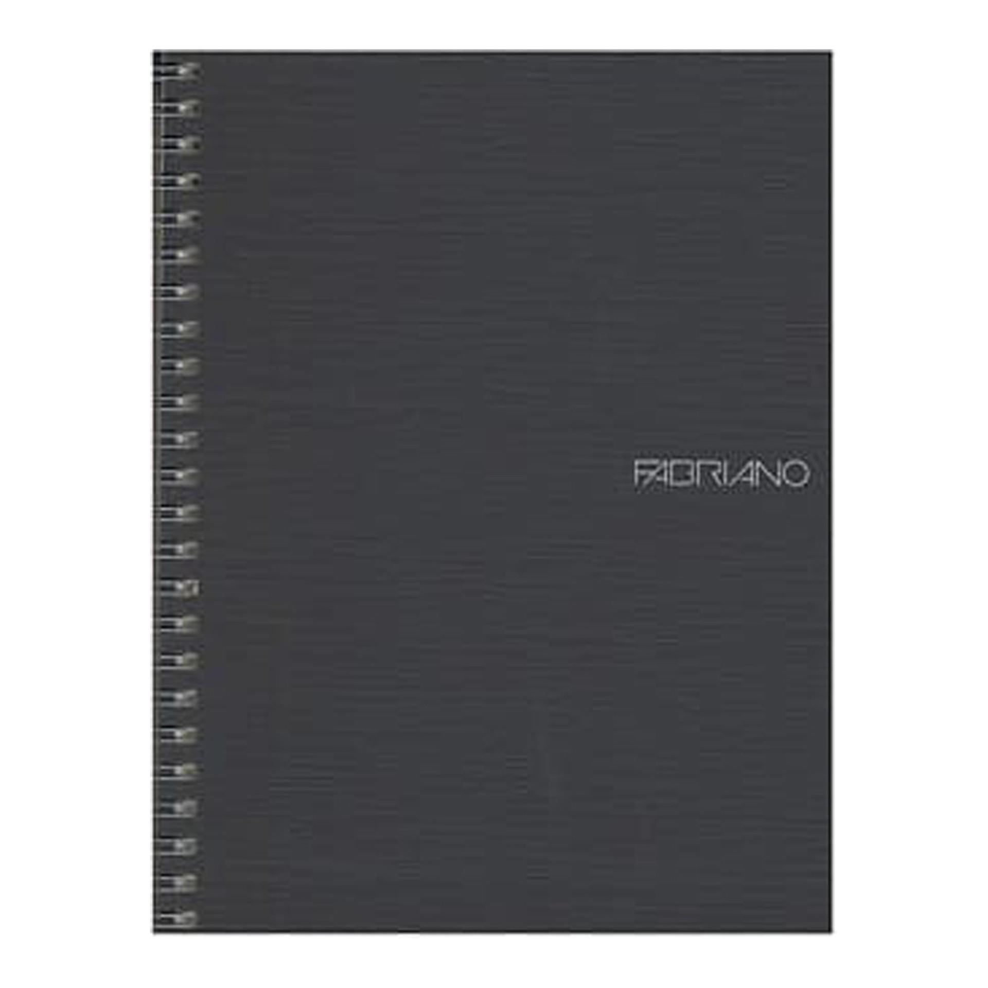 "Fabriano EcoQua Wire Bound Blank 6""x8"" Notebook Black"