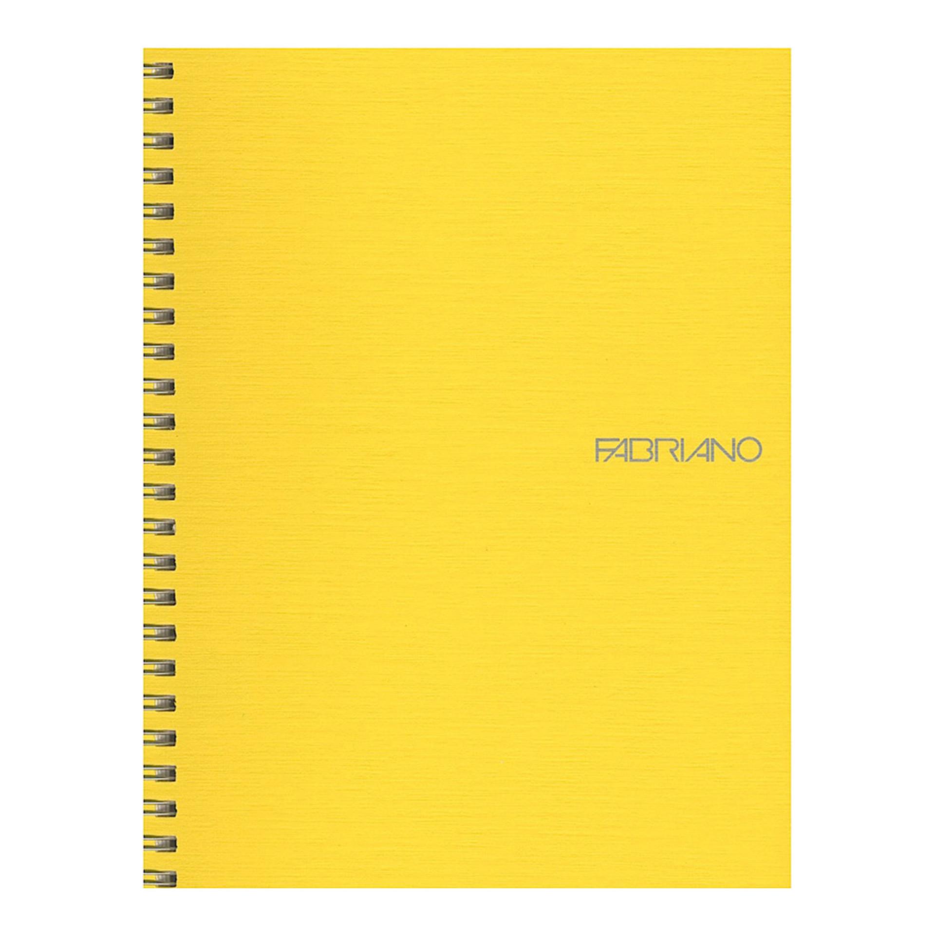 "Fabriano EcoQua Wire Bound Blank 6""x8"" Notebook Lemon"