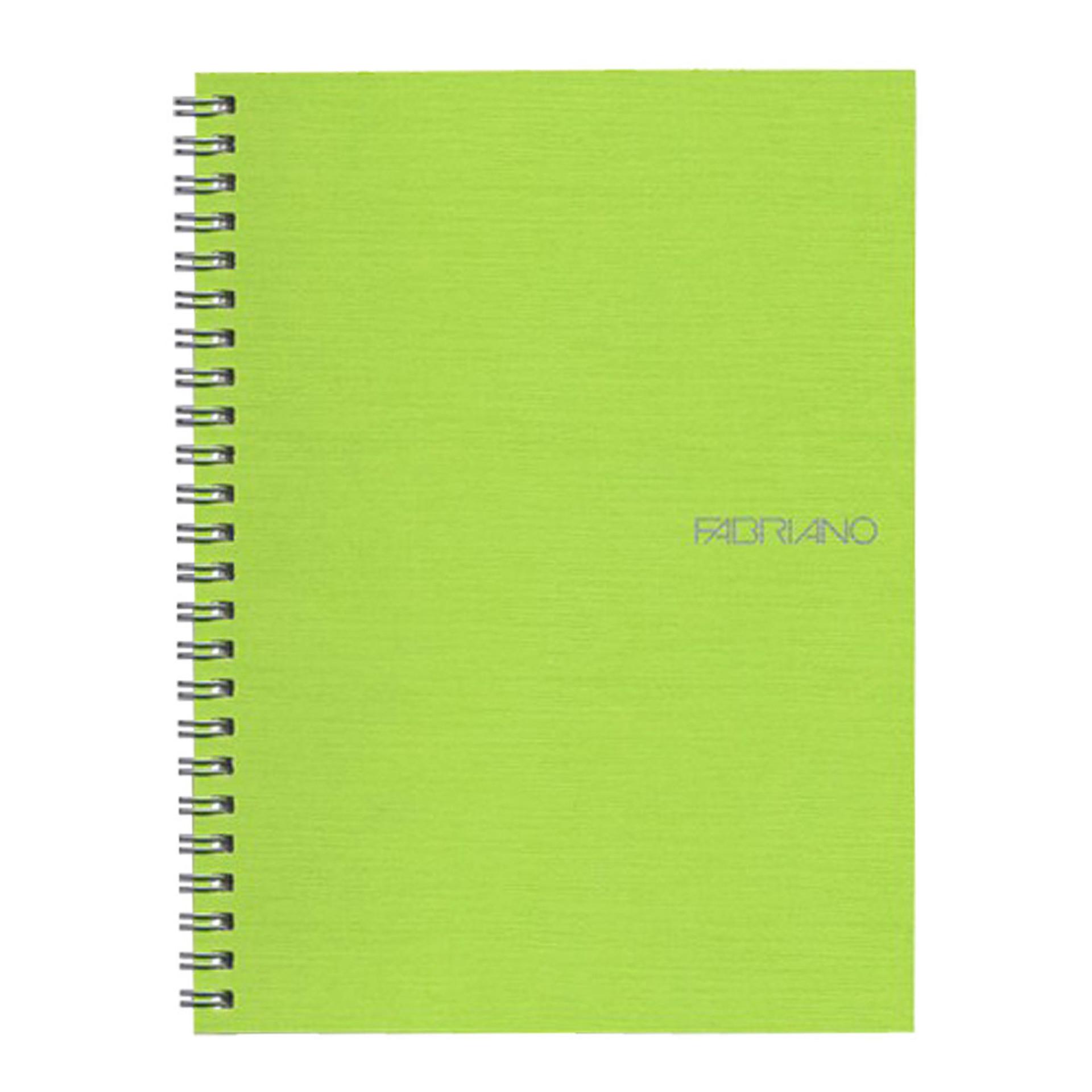 "Fabriano EcoQua Wire Bound Blank 6""x8"" Notebook Lime"