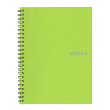 "Fabriano EcoQua Wire Bound Blank 6""x8"" Notebook Lime"